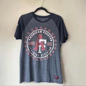 American Fighter Training Division Grey Tee